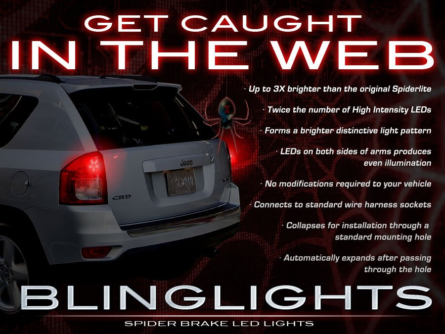 Jeep Compass Custom LED Taillamps Taillights Spider Light Bulbs