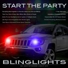 Jeep Compass Police Headlamps Headlights Strobe Light Kit