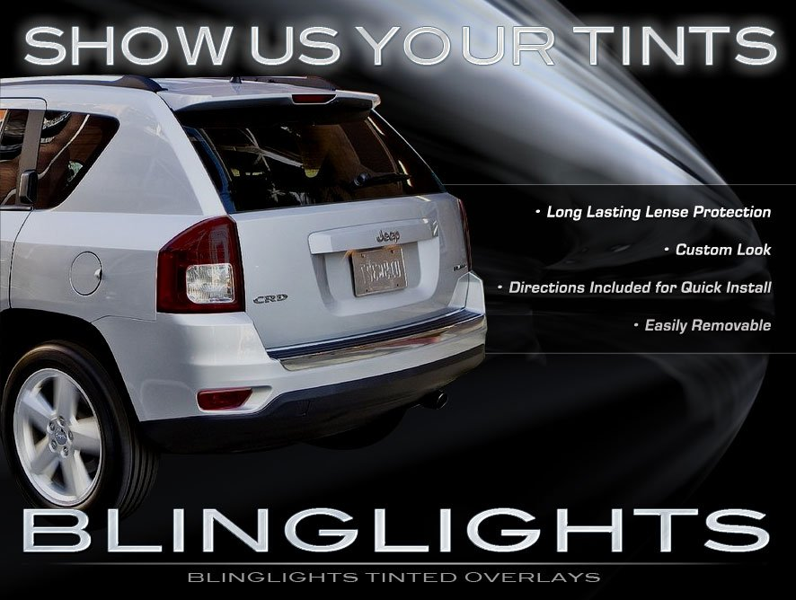 Jeep Compass Tinted Smoked Taillamps Taillights Overlays Protection Film