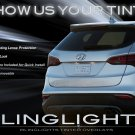 Hyundai Santa Fe Tinted Smoked Tail Lamp Light Overlays Film Protection