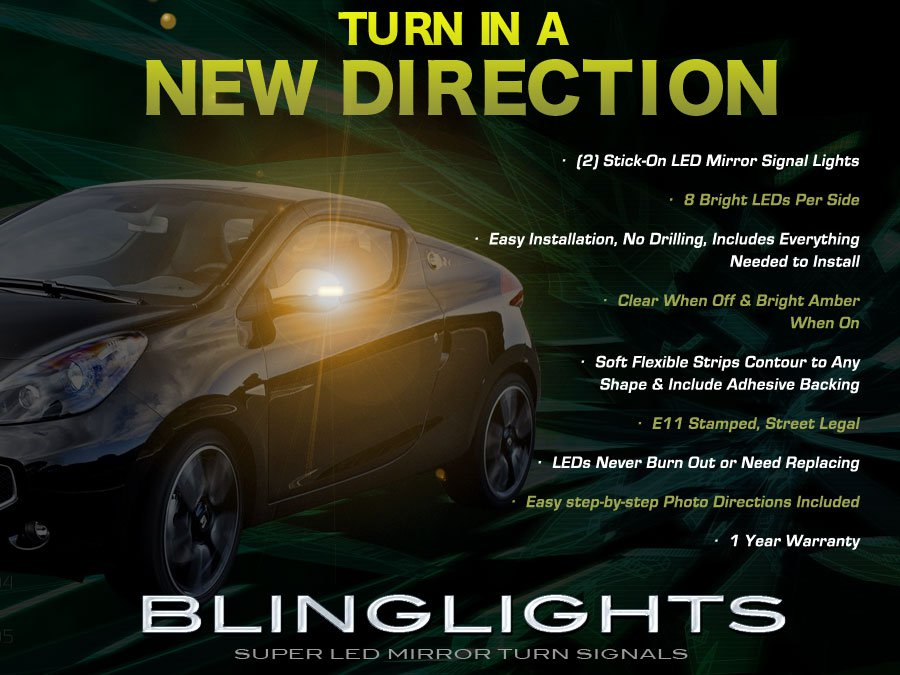 Renault Wind LED Side Mirrors Turnsignals Lights Lamps Turn Signalers Accents