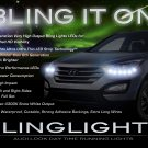 Hyundai Santa Fe LED DRL Strips Day Time Running Lights Lamps Headlamps Headlights Strip Set