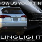 Acura RDX Tinted Taillight Covers Murdered Out Taillamp Overlays
