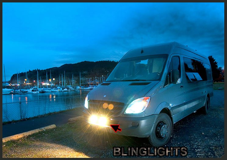 Freightliner Sprinter Driving Lights Fog Lamps Foglamps Auxilliary Bumper Bar Lighting Kit