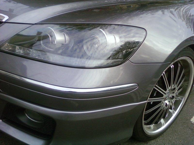 Acura RL Smoked Tinted Headlights Headlamps Overlays Film Protection
