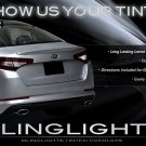 Kia Optima Murdered Out Taillight Covers Tinted Taillamp Overlays