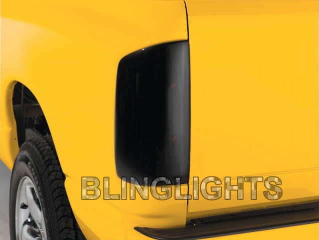 GMC Sonoma Tinted Smoked Tail Lamps Light Overlays Film Protection