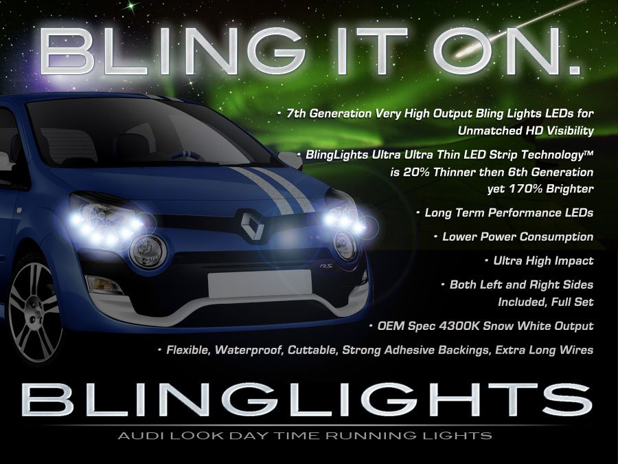 Renault Twingo LED Lights Strips Day Time Running Lamps Headlamps Headlights DRL Strip Set