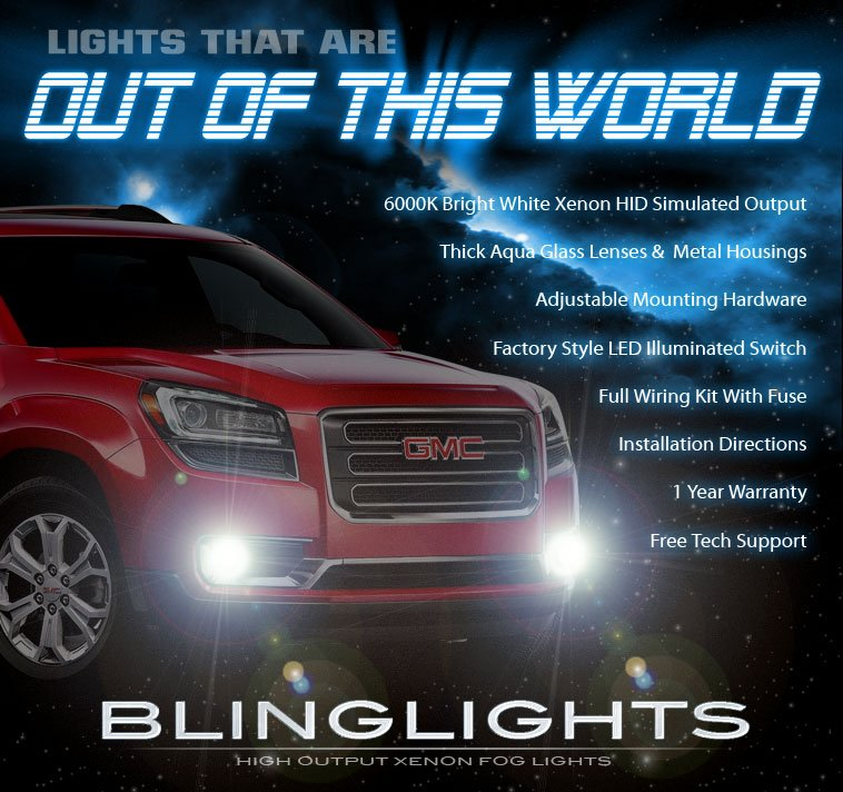2013-2016 GMC Acadia Xenon Driving Light Fog Lamp Kit