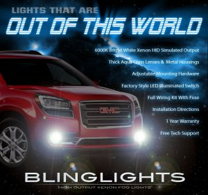 2013 2014 GMC Acadia Xenon Fog Lamps Driving Lights Kit