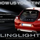Volvo C30 Tinted Smoked Taillamps Taillights Overlays Film Protection