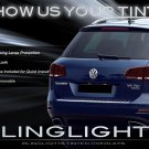 VW Touareg Tinted Smoked Taillamps Tail lights Overlays Film Protection