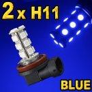 H11 Red White Blue LED Head or Fog Lamp Light Bulbs Set