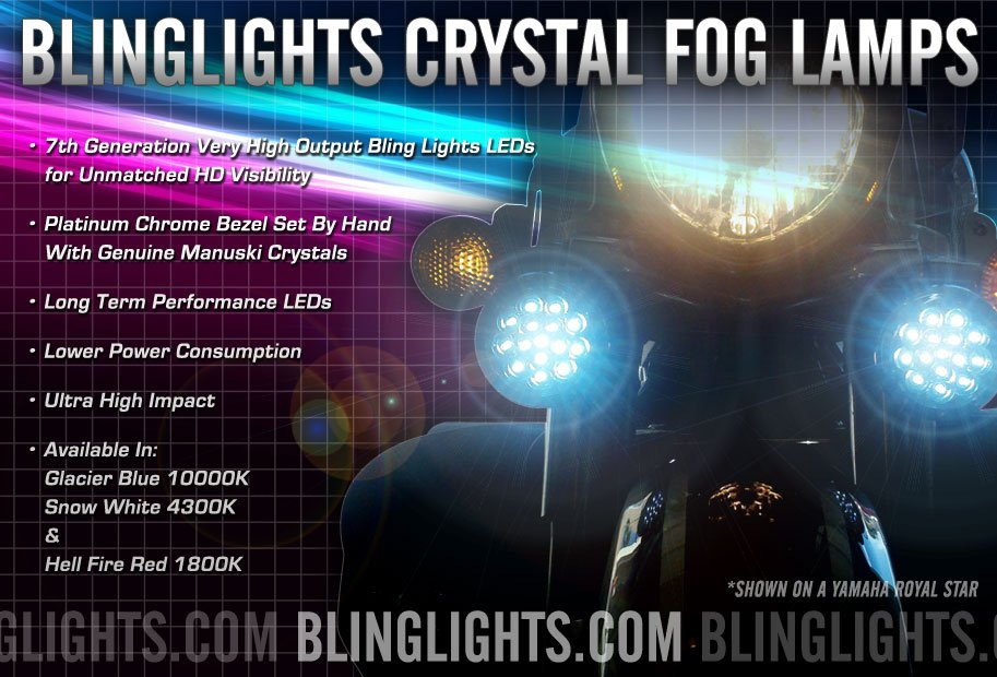 Yamaha Royal Star LED Driving Lights Fog Lamps Kit Addon Foglamps Foglights Drivinglights RoyalStar