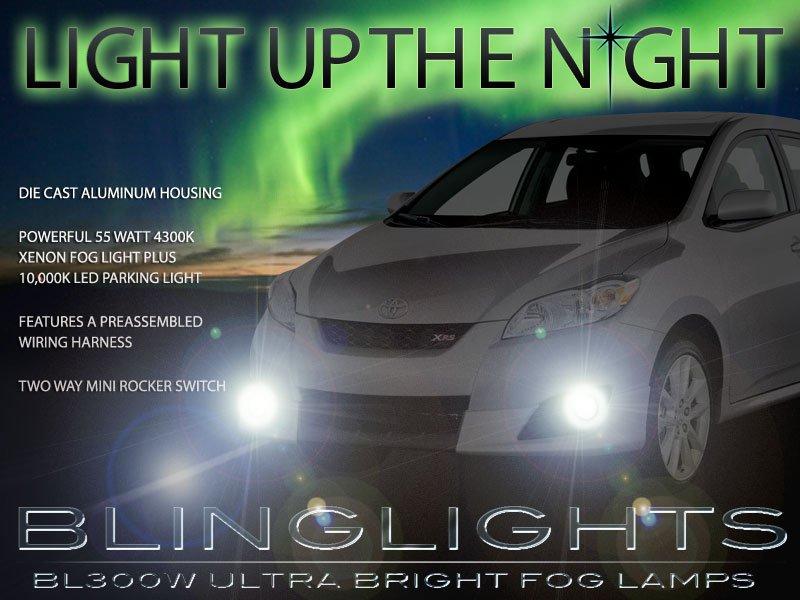 2009 2010 Toyota Matrix Xenon Fog Lamps Driving Lights Kit