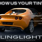 Lotus Exige Smoke Tint Tail Light Lamp Film Overlay Kit Taillamps Taillights Protection