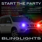 Nissan X-Trail Headlamps Headlights Strobes Light Kit Xtrail
