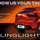 Kia Rio Hatchback Tinted Tail Light Overlay Lamp Smoked Kit Film Protection