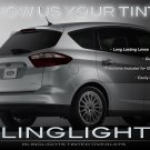 Ford C-Max Tinted Tail Lamps Lights Overlays Kit Smoked Protection Film