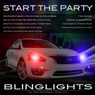 Nissan Altima Head or Tail Lamps Strobe Lights Kit Red White Blue Strobes