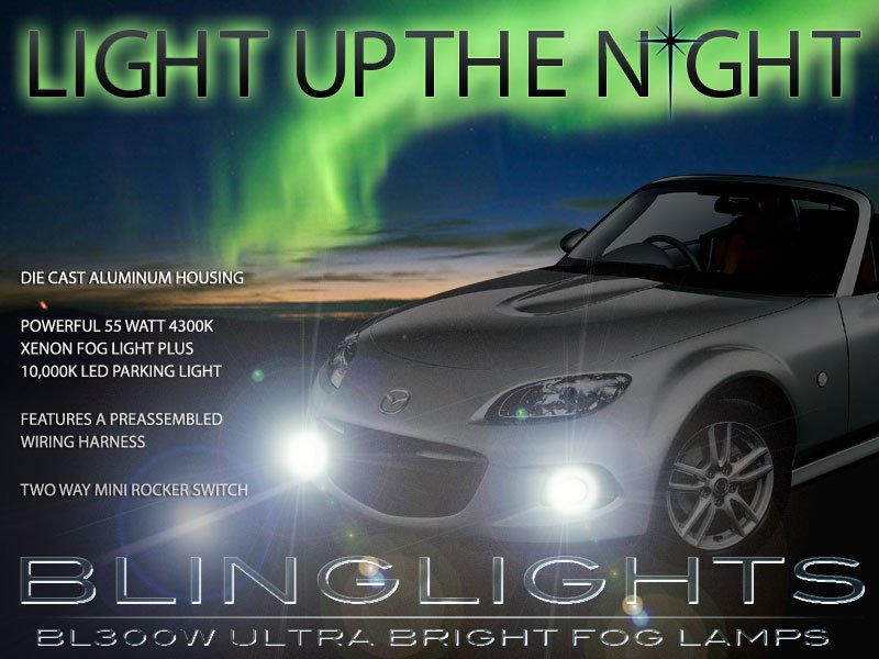 2013 2014 Mazda MX-5 Xenon Fog Lamps Lights Miata NC Kit