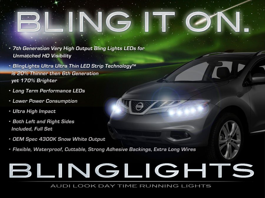 Nissan Murano LED DRL Head Light Strips Day Time Running Lamps
