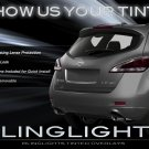 2011-2013 Nissan Murano Tinted Tail Lamp Light Overlays Kit Smoked Protection Film