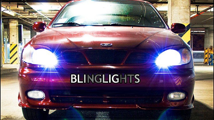 Daewoo Lanos Bright White Head Lamp Light Bulbs Upgrade