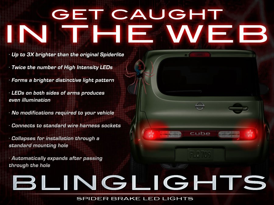 Nissan Cube Custom LED Tail Lamp Light Bulbs Kit Taillamp Taillight LEDs