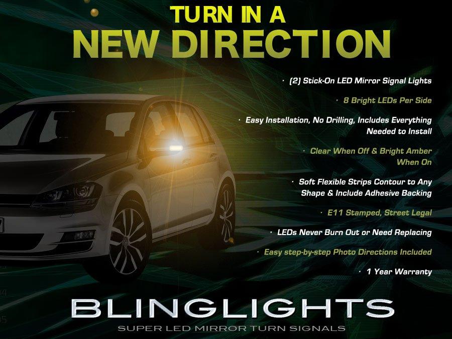 VW Golf Side Mirrors LED Turnsignal Indicator Light Kit Mirror Blinkers Turn Signals