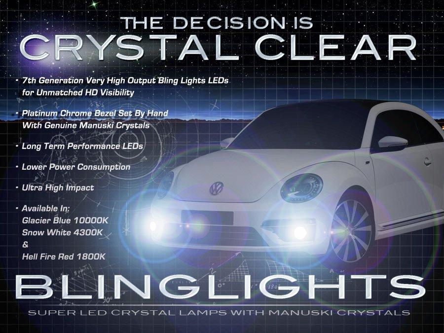 2012 2013 2014 2015 VW A5 Beetle Fog Lamps Lights Kit LED Foglamps Foglights Drivinglights