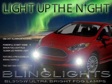 2014 2015 Ford Fiesta Xenon Fog Lamps Driving Light Kit Foglamps Foglights Drivinglights