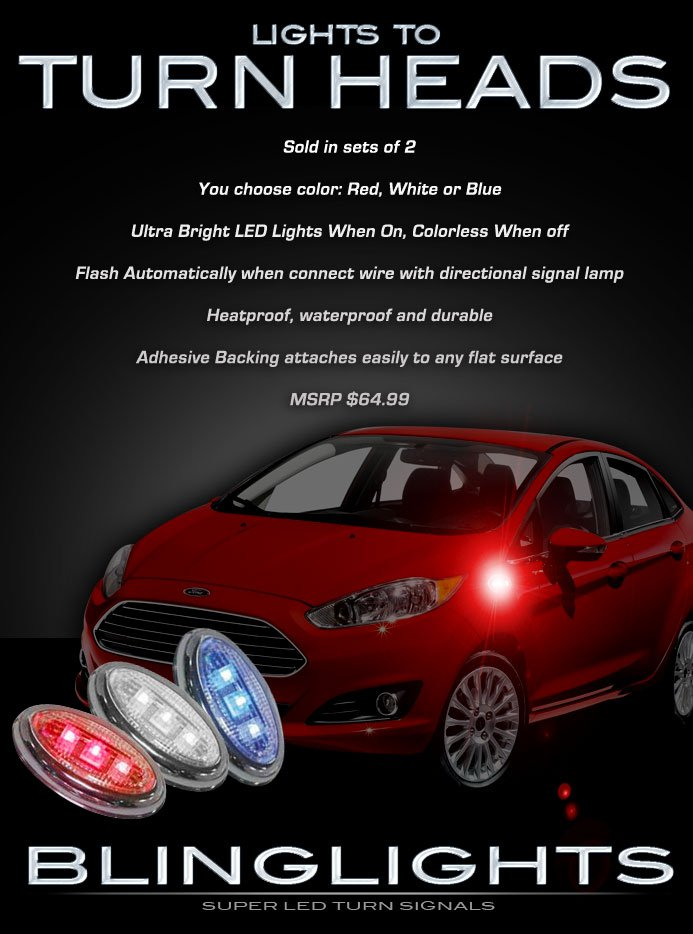 Ford Fiesta LED Side Marker Turn Signal Lights Signalers Lamps Blinkers Set