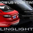 Ford Fiesta Sedan Tinted Tail Lamps Lights Overlays Kit Smoked Protection Film