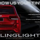Jeep Grand Cherokee Tinted Tail Lamp Light Overlays Kit Smoked Taillights Protection Film