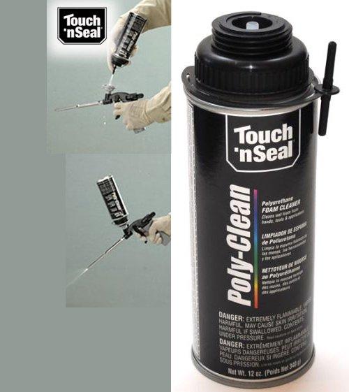 Touch N Seal Spray Gun Poly-Clean Polyurethane Foam Cleaner (1 x 12oz Aerosole Canister)