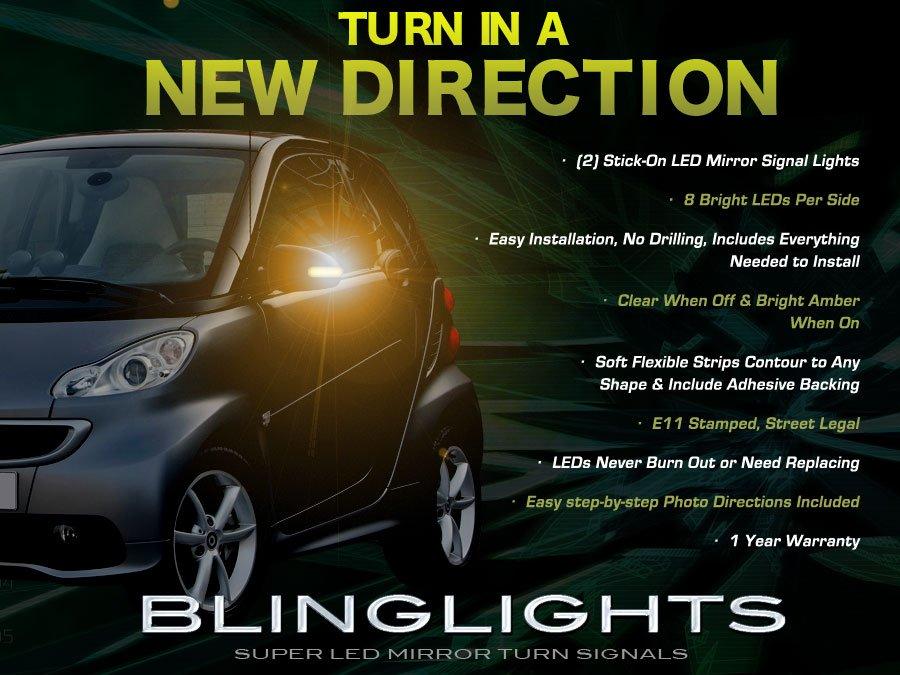 Smart fortwo LED Side Mirror Turn Signal Light Lamp Kit