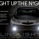 2012 2013 2014 Acura TL Xenon Fog Lamp Driving Light Kit Foglights Foglamps Drivinglights