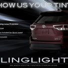 Toyota Highlander Tinted Smoked Taillamps Taillights Overlays Film Protection