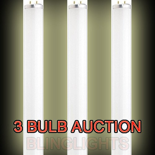 3 X Day White F15 T12/CW Fluorescent Cool White Light Bulb 15 Watt Medium Bi-Pin Preheat