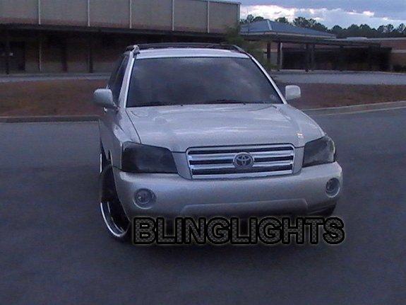 Toyota Highlander Tinted Head Lamp Light Overlay Kit Smoked Protection Film