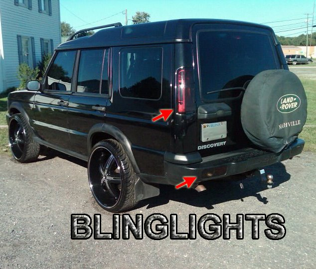 Land Rover Discovery Tinted Tail Lamp Light Overlay Kit Smoked Film Protection