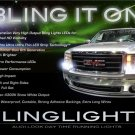 GMC Sierra LED DRL Head Light Strips Kit Day Time Running Lamps