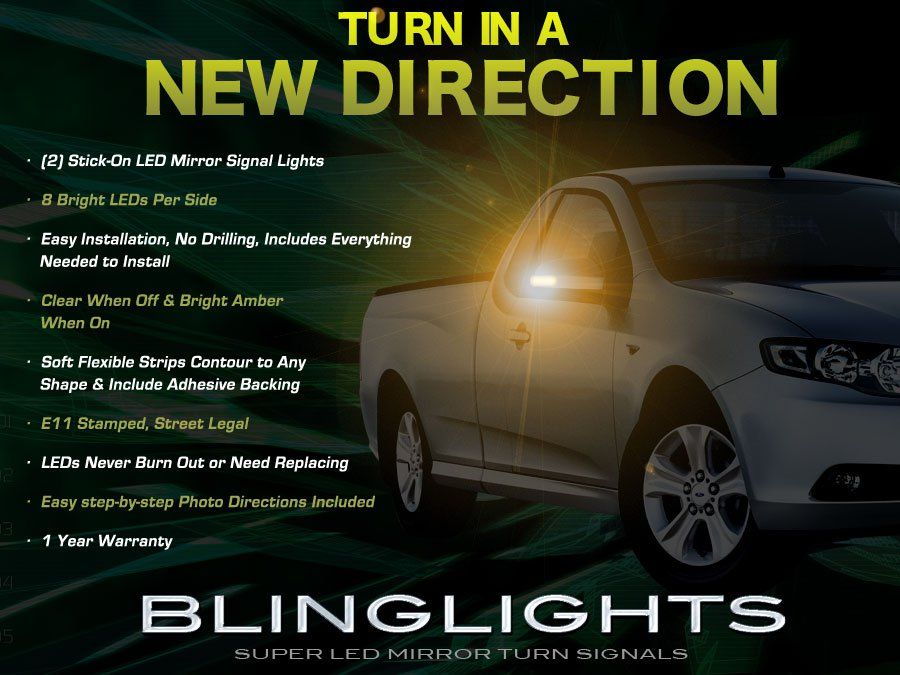 Ford Falcon LED Side Mirror TurnSignaler Lamp Kit Light Blinkers