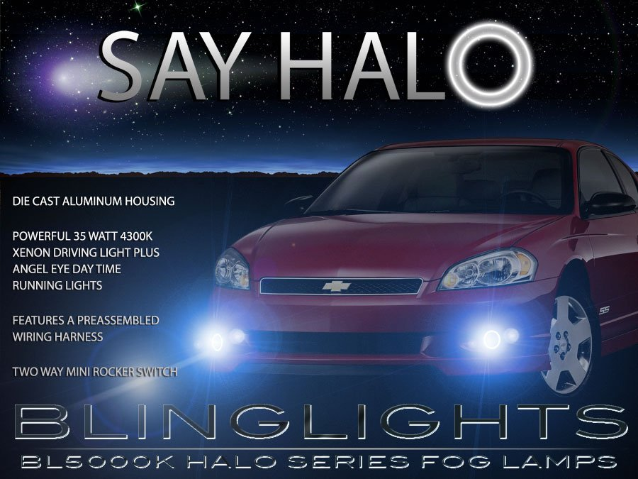 2006 2007 Chevy Monte Carlo Halo Fog Lamp Light Kit ss ls lt ltz Angel Eye Drivinglights