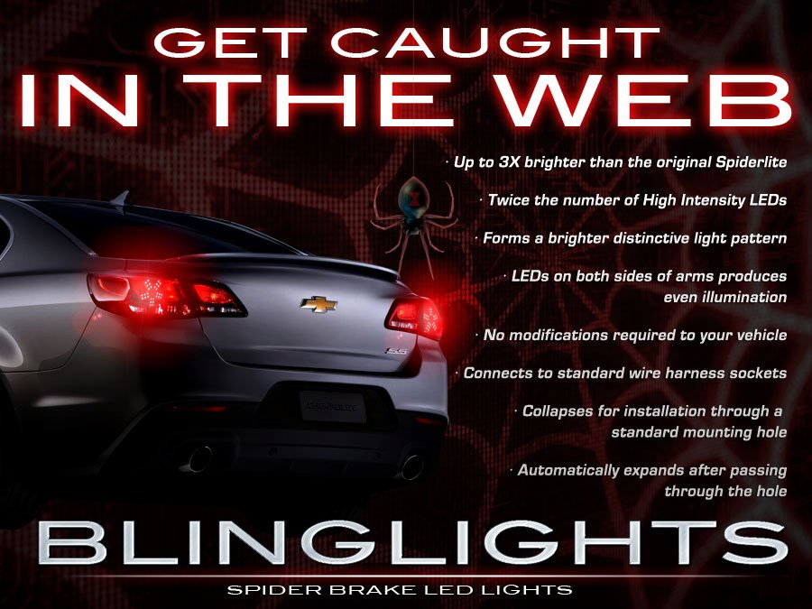 blinglights Holden Statesman Custom LED Tail Lamp Light Bulbs Set