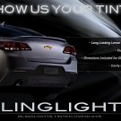 Chevrolet SS Tinted Tail Lamp Light Overlays Kit Smoked Lense Film Protection