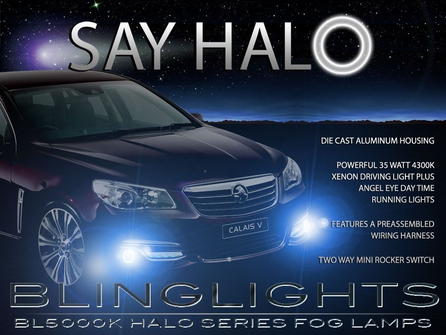 Holden VF Calais V Halo Fog Lamps Driving Lights Kit Angel Eye