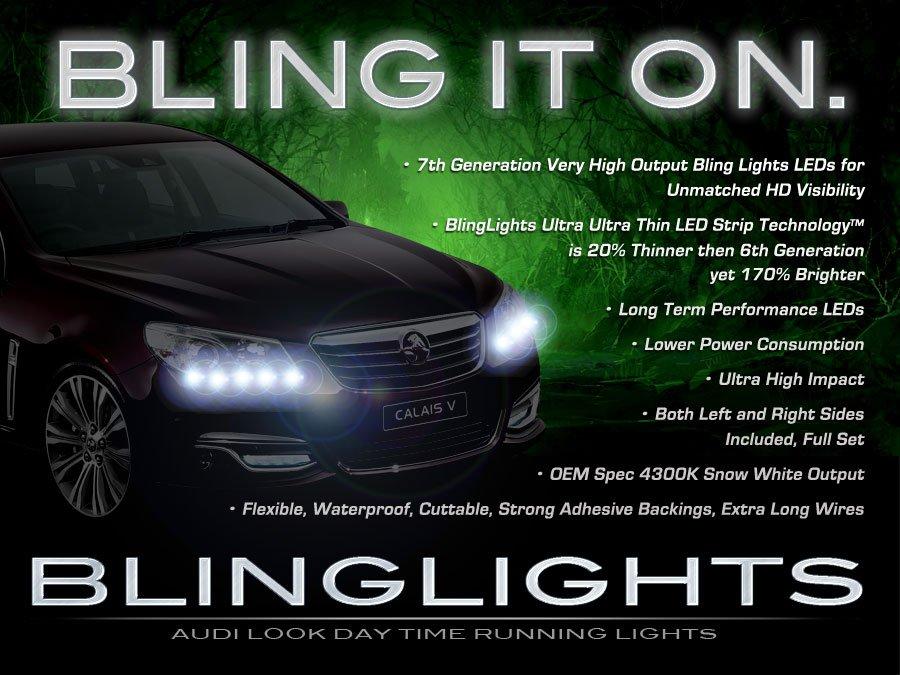 Holden Ute LED DRL Head Lamp Light Strips Day Time Running Kit