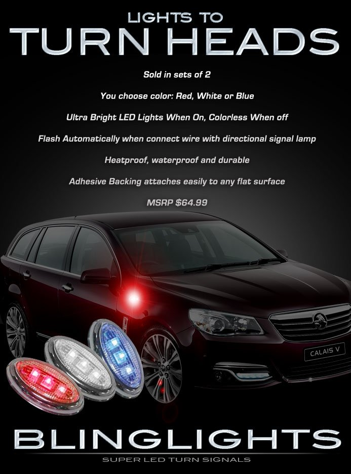 Holden Commodore LED Flushmount Side Turnsignal Light Marker Lamp Set